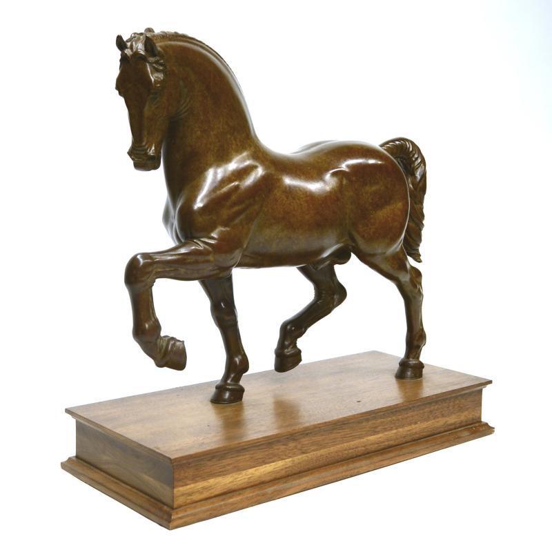 Il Cavallo Da Vinci Bronze Horse by Nina Akamu (1999)