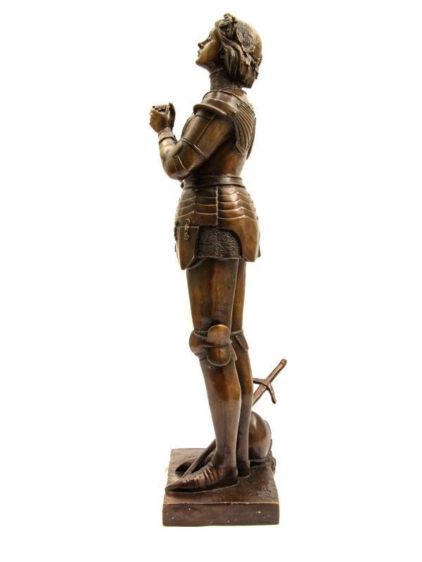 Joan of Arc Bronze Figurine After Antonin Mercié (1845-1916)