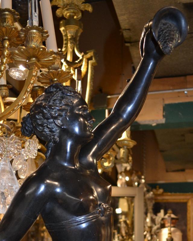 Roman Goddess Fortuna Bronze Statue After Jean de Bologne