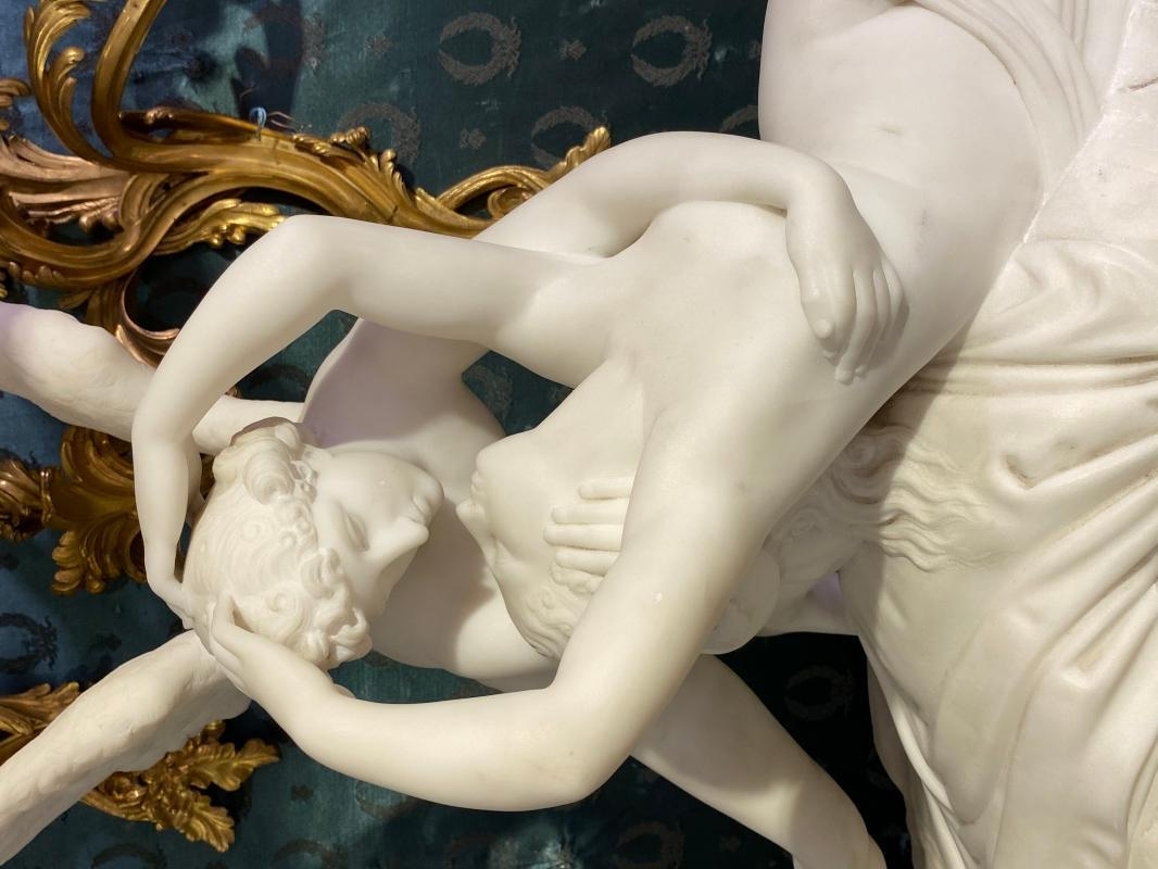 Love and Psyche Marble Sculpture After Antonio Canova