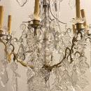Baccarat Crystal and Bronze Eight-Light Chandelier