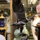 Eagle Bronze Sculpture After Jules Moigniez (30 in)