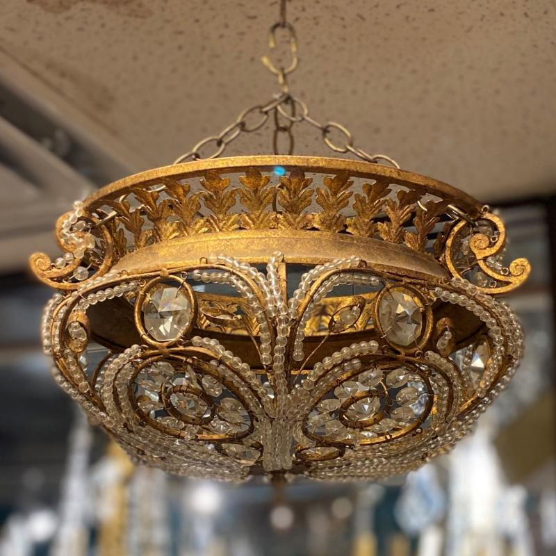 Vintage Bagues Style Chandelier by Quoizel