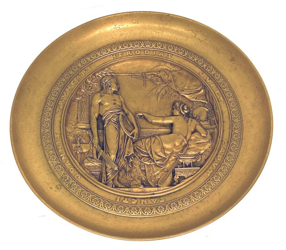 Gilt Bronze Tazza Depicting Herodios After Emile Picault (1833-1915)