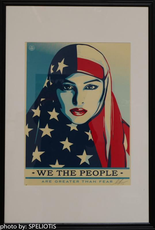 Shepard Fairey Signed Artist Proof 'We The People Are Greater Than Fear' 18x24 in