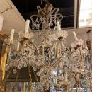 Maison Bagues Style Beaded Crystal and Gilt Metal Chandelier
