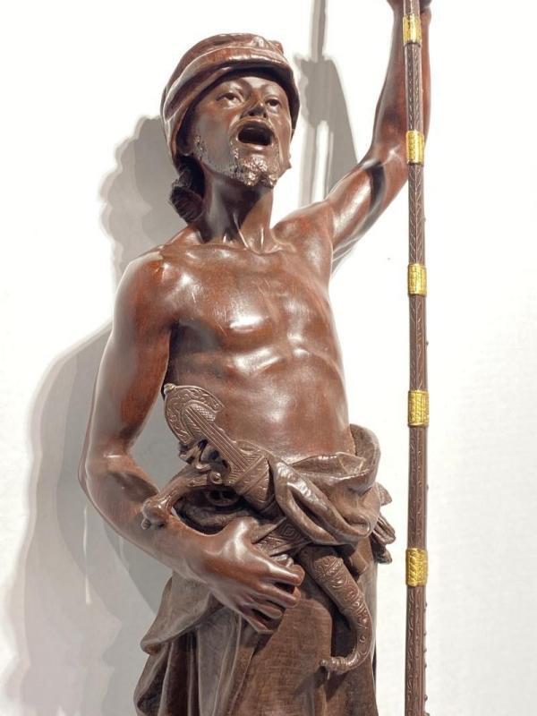 Joaquin Angles (1859-1925) Orientalist Bronze of Arab Sentinel