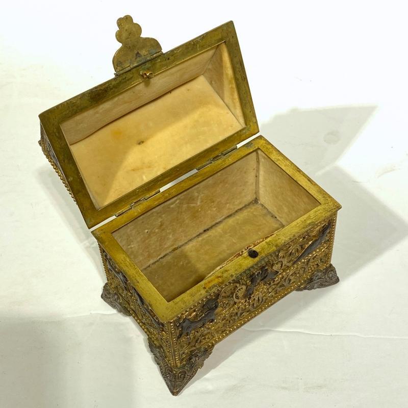 Gothic Style Bronze Jewelry Casket