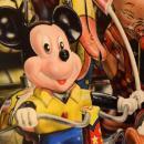 Mickey Mouse Hyperrealist Oil on Board by Cesar Santander