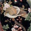 Large Antique Japanese Cloisonne Metal Vase (34 in, 86 cm)
