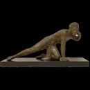 Art Deco Figurative Metal Sculpture After Jean de Roncourt