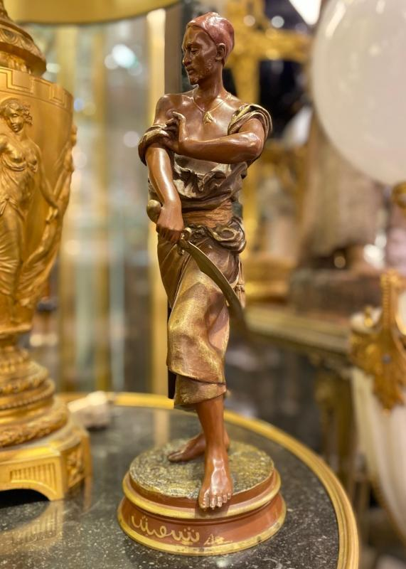Arabian Palace Guardian Bronze Sculpture by Francois Gaston Coudray