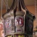 Tiffany Studios Style Turtleback Hanging Lamp Lantern