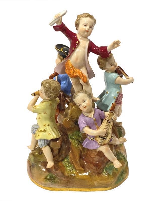 Meissen Five Musicians Band Figurine