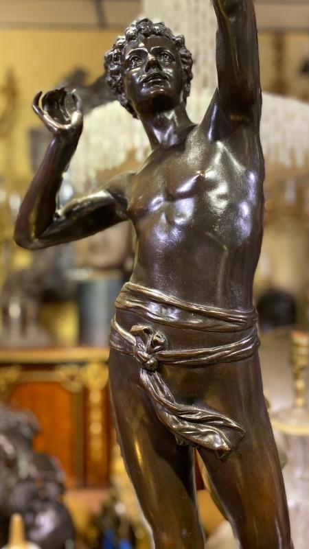 Falconer Bronze Sculpture After Adolphe Martial Thabard (1831-1905)