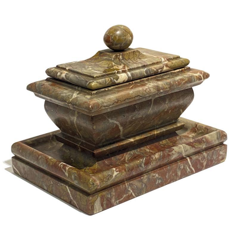 Grand Tour Marble Inkwell