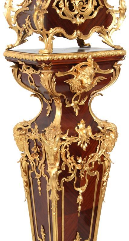 Louis XV Style Clock on Pedestal (105 in, 266 cm)