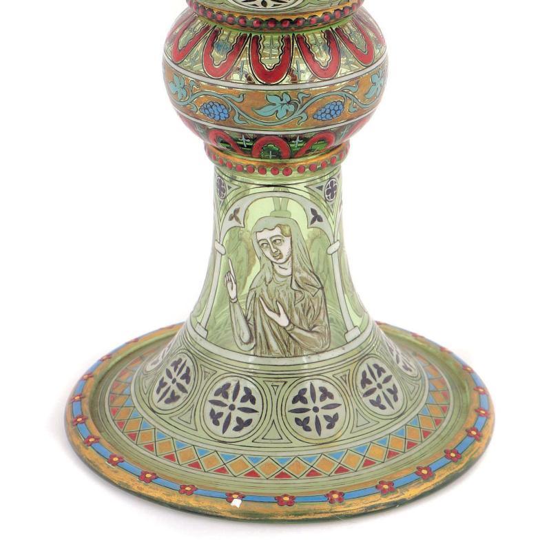 Antique Lobmeyr Renaissance Revival Enameled Chalice Goblet
