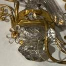 French Bagues Style Gilt Metal and Mirrored Glass Parrot Form Sconces