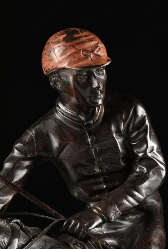 Jockey on Racehorse ( Jockey a Cheval ) Bronze After Pierre Jules Mene