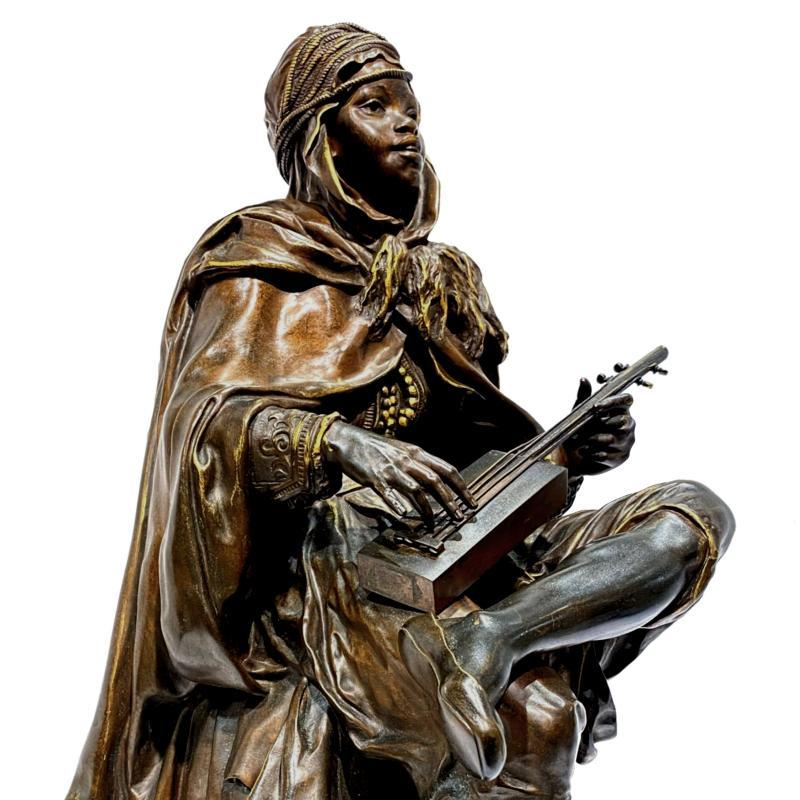 Moroccan Sintir Player by Louis Guillaume Fulconis (1818-1873)