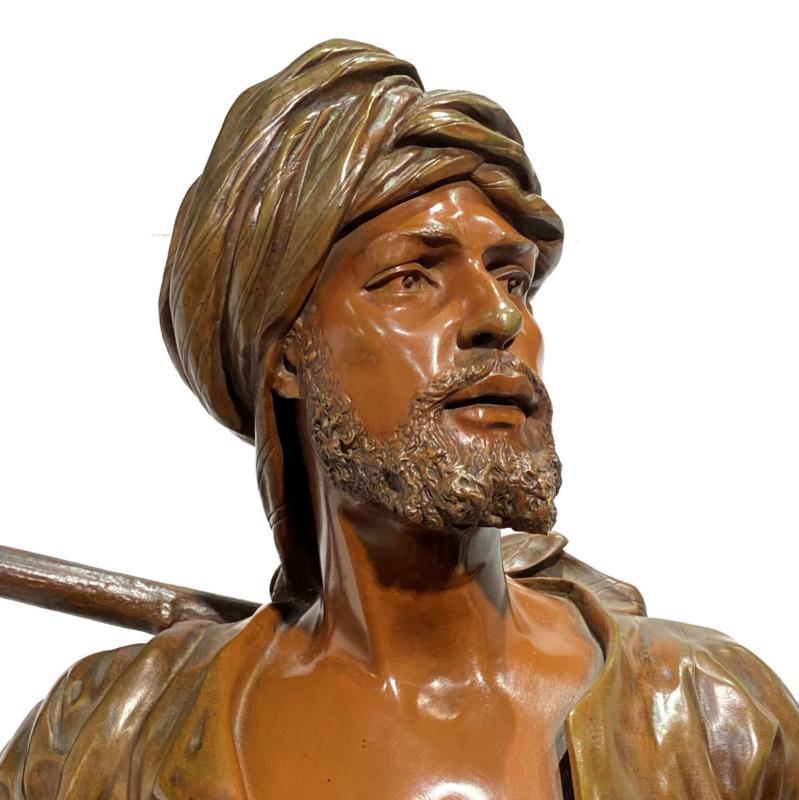 Orientalist Bronze Sculpture by Emile Pinedo (1840-1916)