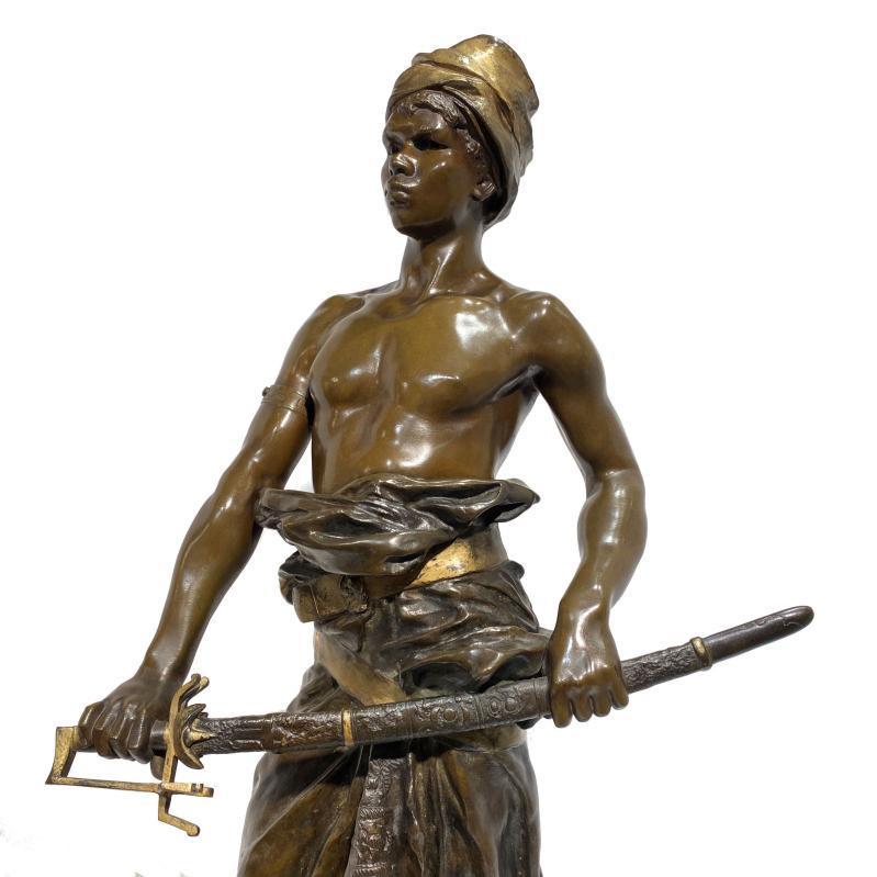 Orientalist Bronze Figure by Clément Léopold Steiner (1853-1899)