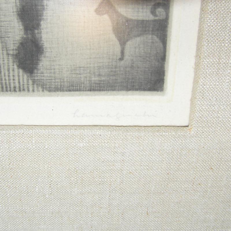 Gypsy Mezzotint Print by Yozo Hamaguchi (1954)