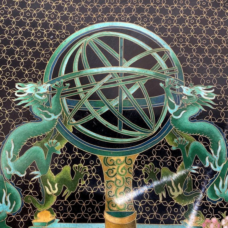 Chinese Cloisonne Enamel Scholar's Charger