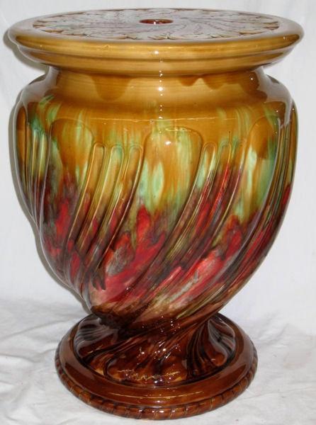 Antique Minton Porcelain Garden Seat (1896)