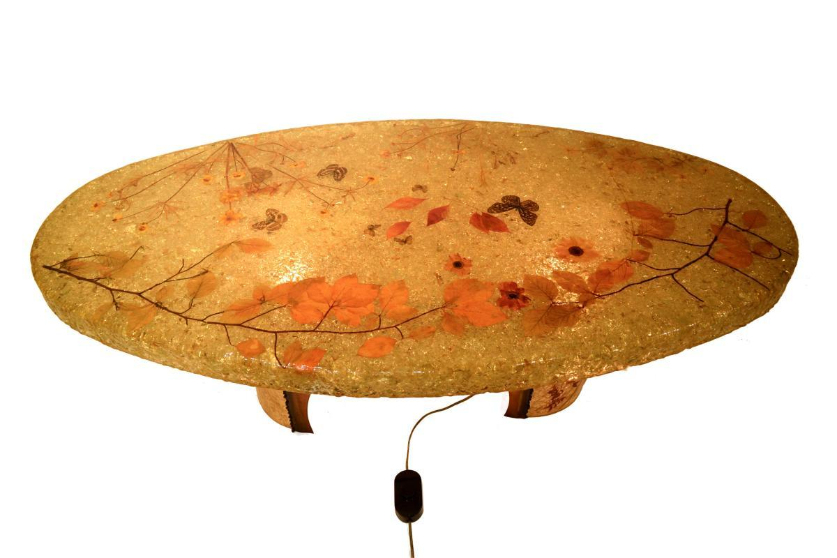 Accolay Mid-Century Modern Resin Coffee Table