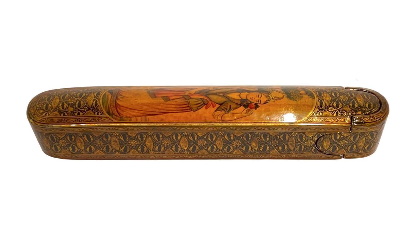 Antique Persian Lacquered Pen Box