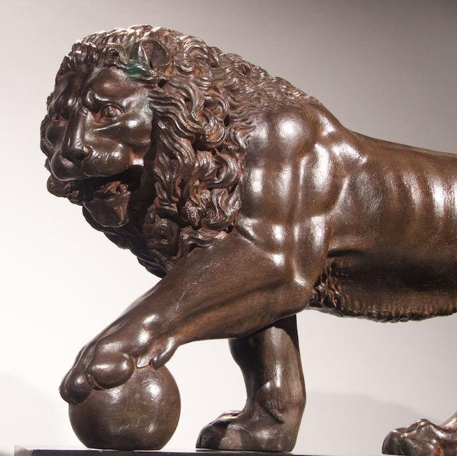 Bronze Medici Lion Grand Tour Sculptures