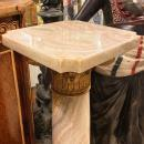 Onyx Column Shaped Pedestal with Neoclassical Bronze Mounts