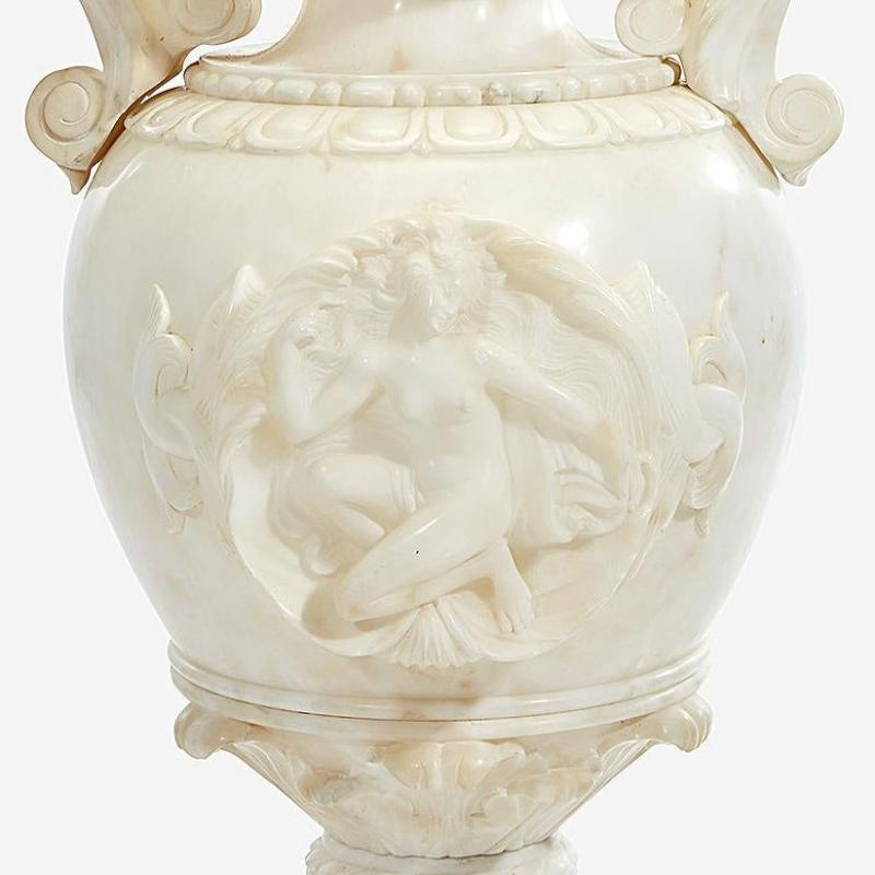 Renaissance Revival Alabaster Jardiniere