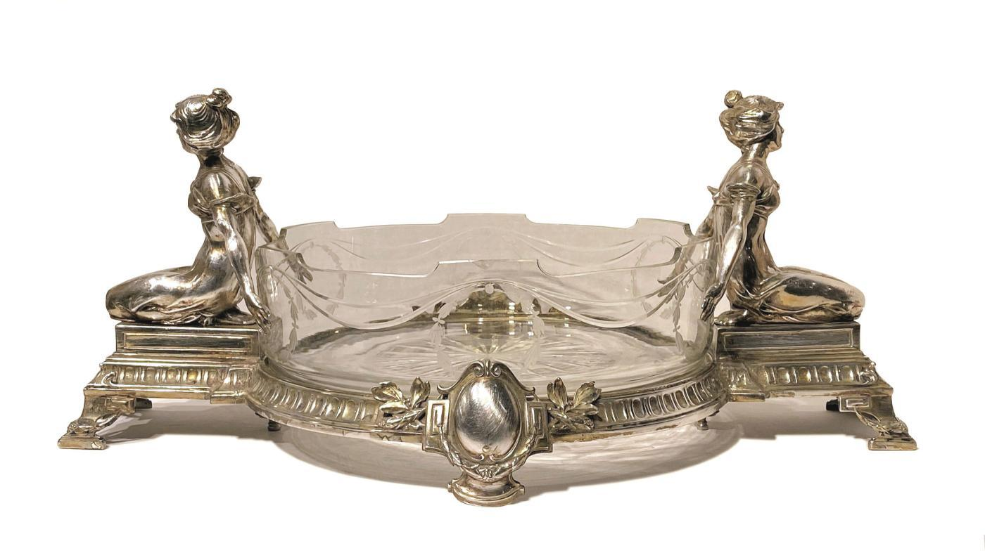 Figural Silverplated Centerpiece Bowl