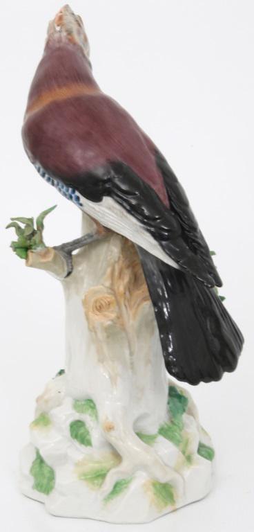 Dresden Porcelain Figurine of Eurasian Jay Bird