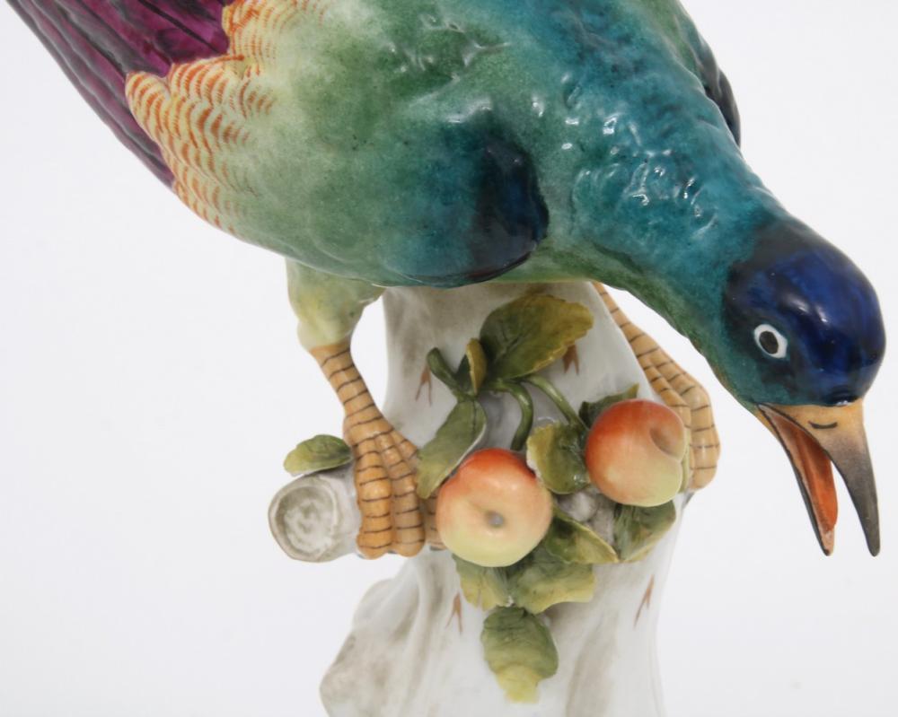 German Porcelain Figurine of European Roller Bird