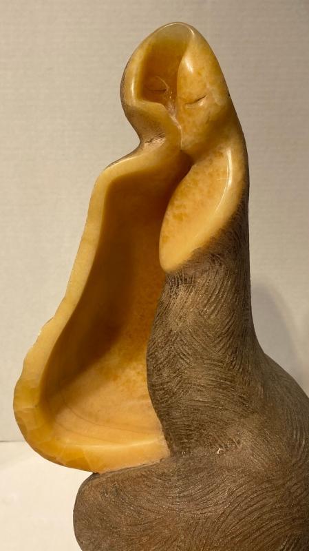 Augusto Ortega Escobedo (1914-1995, Mexican) Abstract Onyx Stone Sculpture