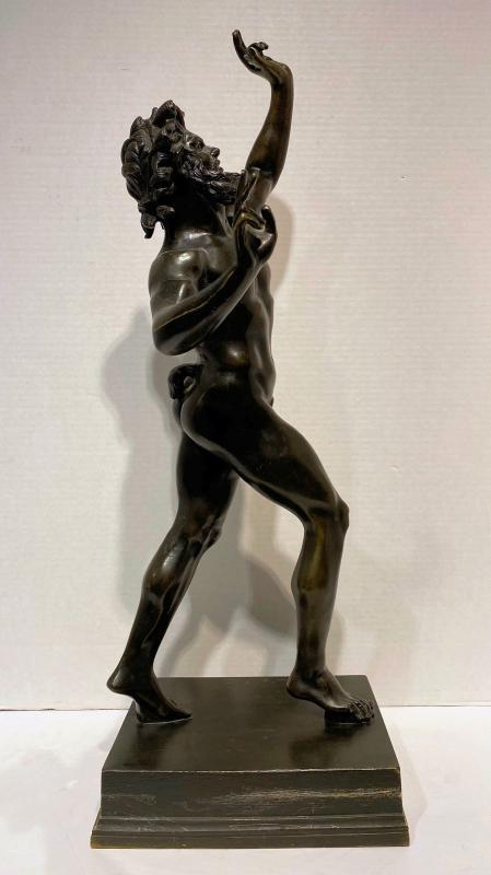 Pompeii Dancing Faun Bronze Sculpture After the Ancient