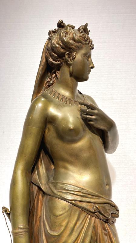 Diana the Huntress Bronze Sculpture After Jean Louis Gregoire (1840-1890)