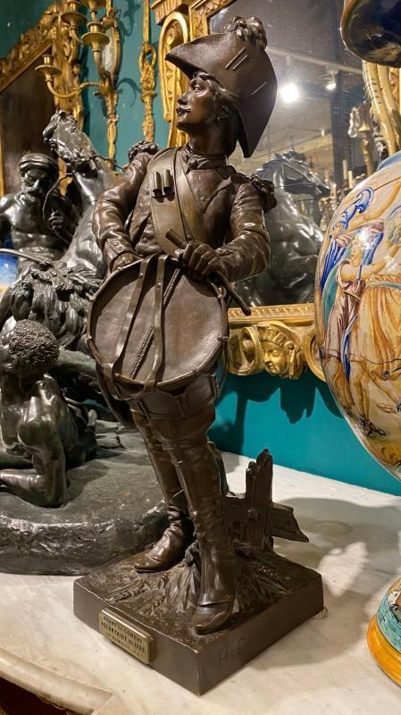 Avant le Combat French Bronze Soldier After Dumaige