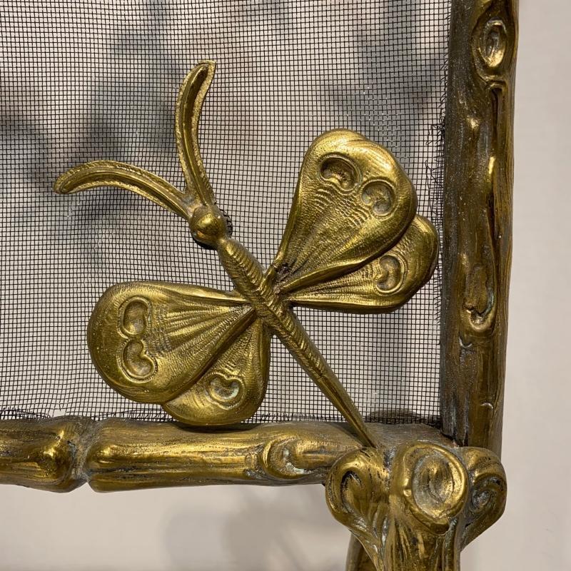Arts and Crafts Gilt Bronze Fireplace Screen