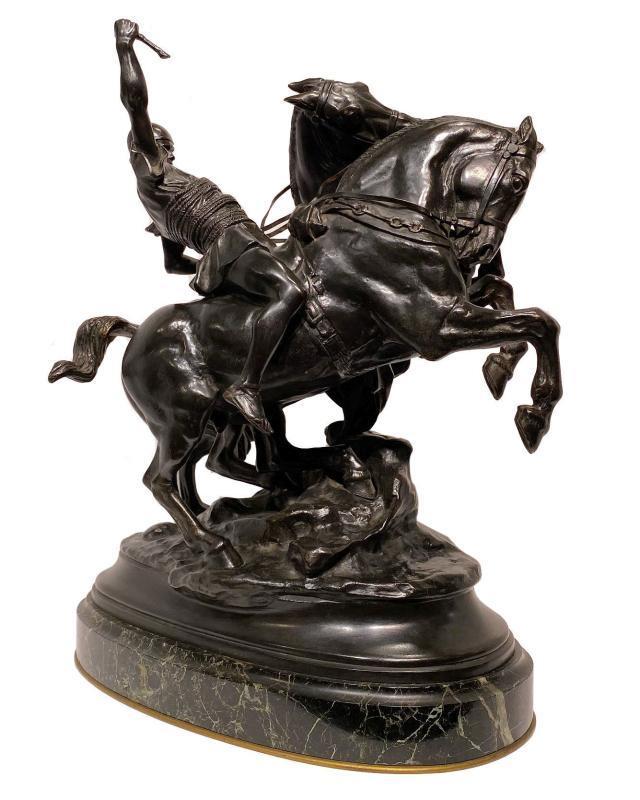 Roman Charioteer Bronze After Emmanuel Fremiet (1824-1910)