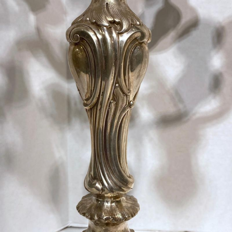 Silver Candelabra in Rococo Style from Haller and Rathenau of Germany