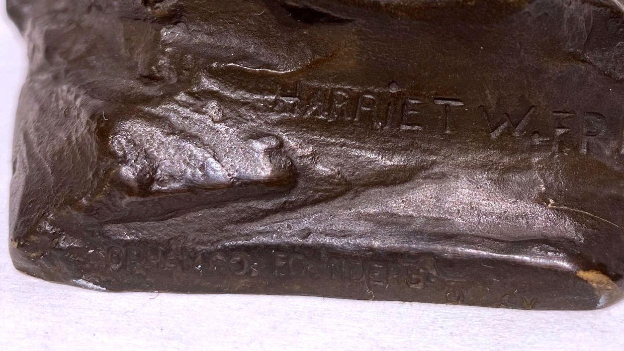 Art Nouveau Bronze Figurine After Harriet Frishmuth