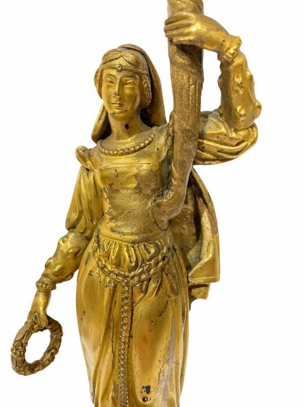 Renaissance Revival Gilt Bronze Figural Candelabra