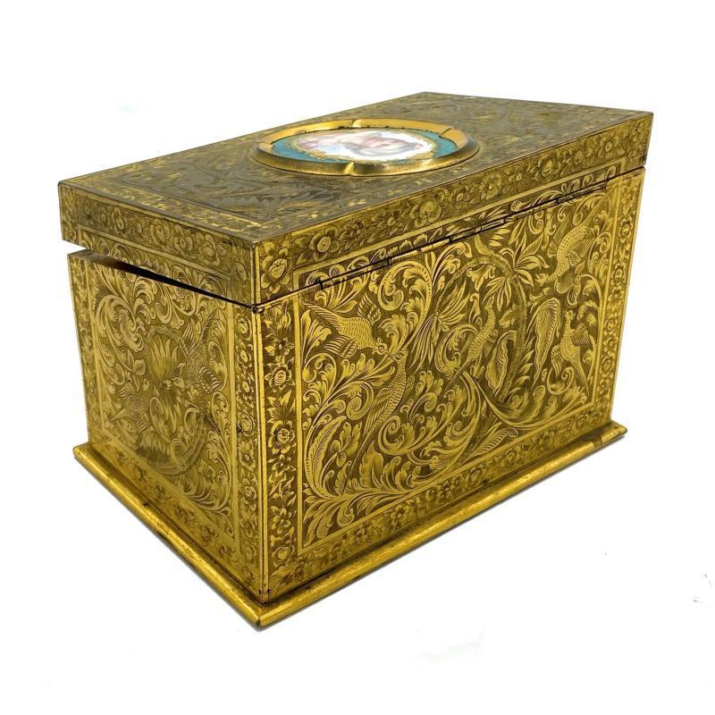 Samson Wertheimer (1811-1892) English Ormolu Bronze Letter Box