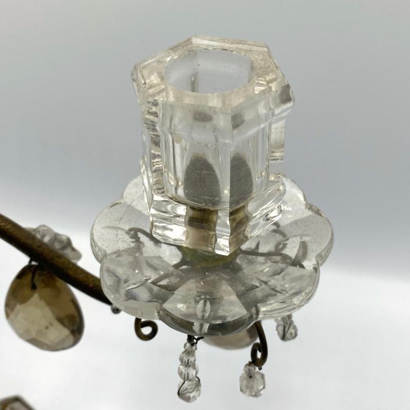 Antique Rock Crystal Candelabra