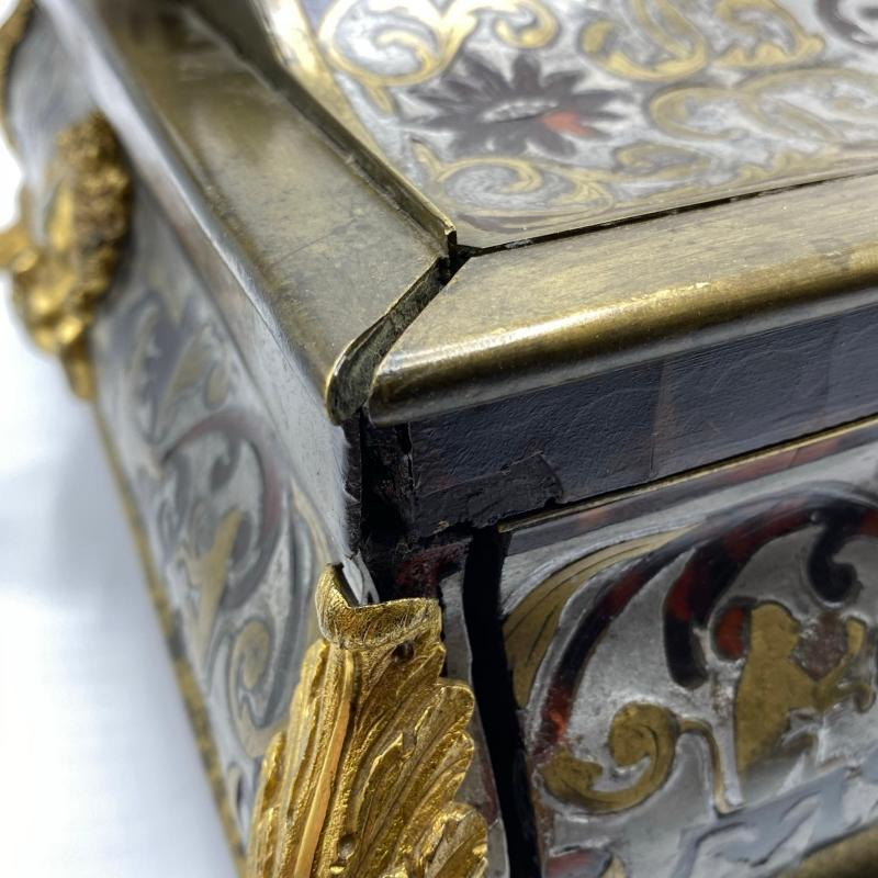 Large French Louis XIV Style Boulle Jewelry Box